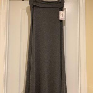 Lularoe Gray Maxi Skirt NWT